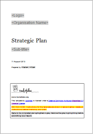 strategic plan template tools4dev