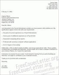 sample payroll cover letter payroll coordinator cover letter