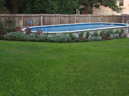 Pool Garden Ideas by Decorative Above Ground Pool Landscaping Ideas Designs Ideas And