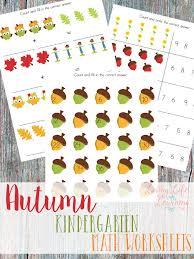 free printable autumn kindergarten math worksheets money saving mom