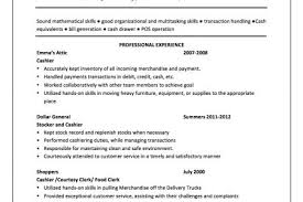 Cashier Job Description For Resume by Teller Resume With Cashier Experience And Resume Sample Bank