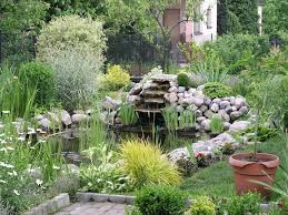 lawn u0026 garden garden pond with stone waterfall and some plants
