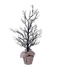 black halloween tree animated talking ghost in witch hat halloween decoration black