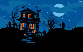 halloween night wallpaper haunted house 783830 walldevil