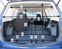 honda crv interior dimensions 2012 subaru forester cargo dimensions car subaru