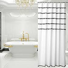 White Shower Curtains Fabric Amazon Com Interdesign Abstract Fabric Shower Curtain 72