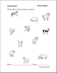 worksheet set farm animals theme abcteach