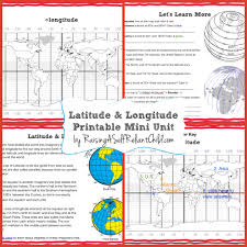 World Map With Longitude And Latitude Lines by Free Printable Mini Unit Latitude And Longitude For Kids