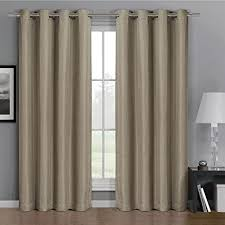 Yarn Curtains Pair Of Two Top Grommet Gulfport Faux Linen Blackout Weave Thermal