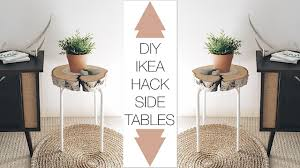 ikea gladom hack diy ikea hack side table youtube