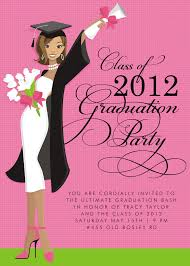 graduation party invitations template with pink background