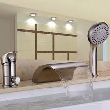 Roman Tub Faucets With Hand Shower Victoria Waterfall 3 Hole Roman Tub Faucet With Hand Shower
