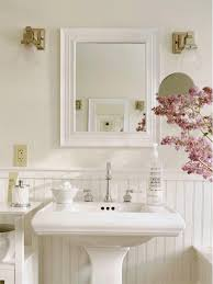 light peach walls add modern feel shabby chic bathroom bathroom