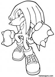 Sonic Knuckles Coloring Pages printable sonic the hedgehog knuckles coloring in sheets printable