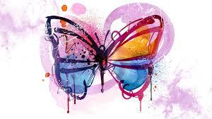 butterflies painted splash persona firefox paint graffiti theme