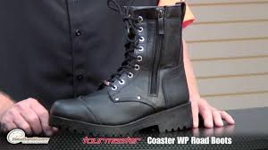 motorcycle road boots tour master coaster 2 0 wp road boots at bikebandit com youtube