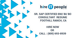 Sap Bo Resume Sample by Sr Sap Certified Bw Bi Bo Consultant Resume Foothill Ranch Ca