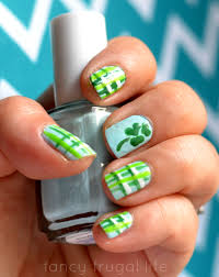 st patrick u0027s day plaid nails