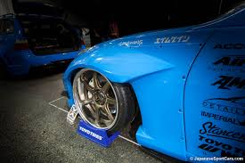 nissan 370z custom blue nissan 370z with aimgain wide body kit and work emotion t7r wheels