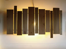 Wooden Wall Sconce Slats Wall Sconce Cantilever And Press