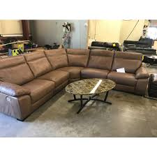 Power Sofa Recliner 5 Pc Leather Sectional Sofa With 3 Power Recliners With Power
