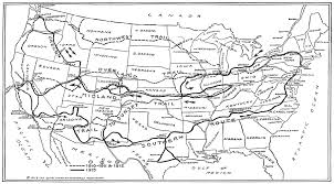 The Oregon Map by To Map Two Trails Across Continent New York Times May 4 1913 At