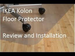 ikea carpet protector ikea kolon floor protector review and installation youtube