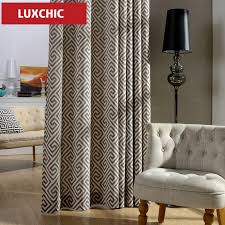 1pc kitchen curtains nordic style modern drapes geometric light