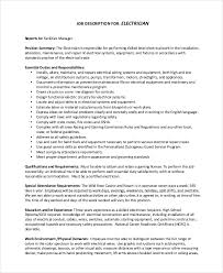 Resume For Electrician Job by Maintenance Job Description Roles And Responsibilities Of First