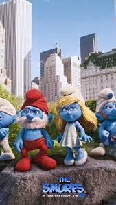 smurfs 2 u0027 living poster debut papa smurf friends invade