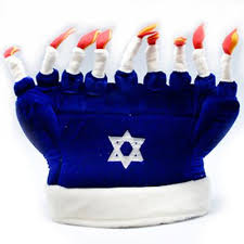 chanukah hat getpranks your prank source happy hanukkah menorah hat
