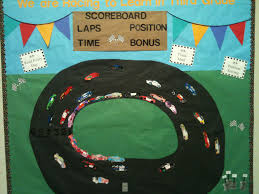 race car bulletin board for elementary bulletin board