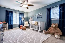 Curtains For Dark Blue Walls Navy Blue Nursery With Beige And Blue Sailboard Print Curtains