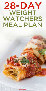 cuisine ww 28 day weight watchers meal plan weight watchers meal plans