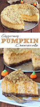gingersnap pumpkin cheesecake cakescottage