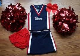 Patriots Halloween Costume Patriots Cheerleader Costume Halloween 4 5 Deluxe Pom Poms