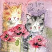 cat birthday card cards themed on cats