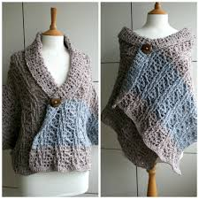 crochet wrap diy fall wrap sweater crochet pattern luz patterns