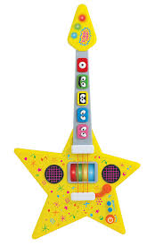 amazon com yo gabba gabba feature guitar musical instrument toys