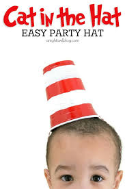 dr seuss hat template free cat in the hat party hat a night owl blog