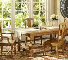 pottery barn farm dining table love the legs on this one brayden extending dining table pottery