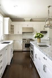 modern white kitchen cabinets wood floor 35 kitchens with marble islands chairish white