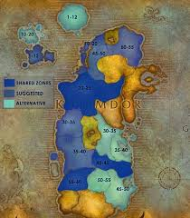 kalimdor map cataclysm leveling flow guide 1 60 wowhead