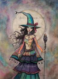 witch art prints and halloween art prints by molly harrison
