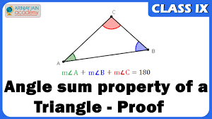 proof of angle sum property of a triangle geometry maths