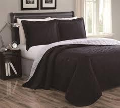 cressida plum gray reversible bedspread quilt set