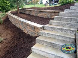 Retaining Wall Stairs Design Retaining Wall Gallery Independence Landscape Lawn Care