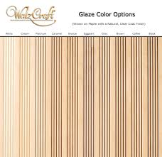 Walzcraft Cabinet Doors by Enlarged View Glaze Color Options On Maple With A Natural Clear