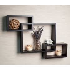 laminate intersecting espresso wall shelf overstock com ℋome