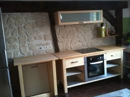 meuble cuisine a poser sur plan de travail le caisson rangement